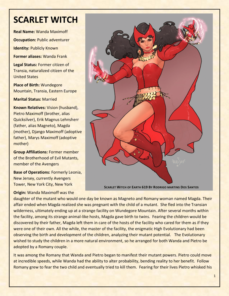 OHOTMUO Scarlet Witch v3-1