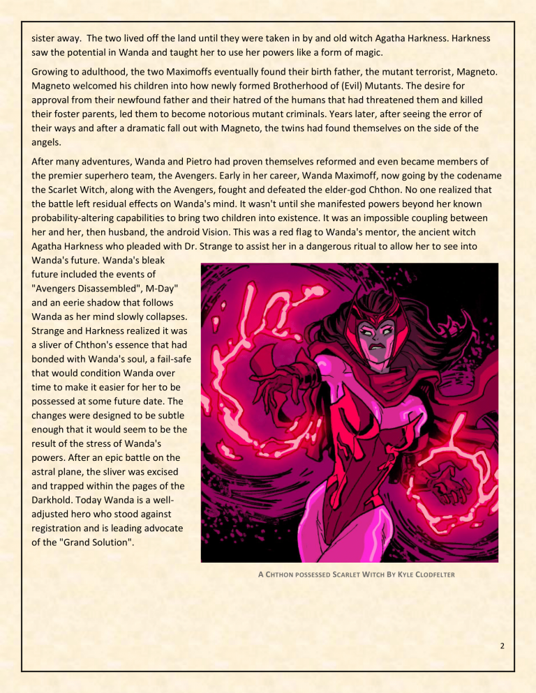 OHOTMUO Scarlet Witch v3-2