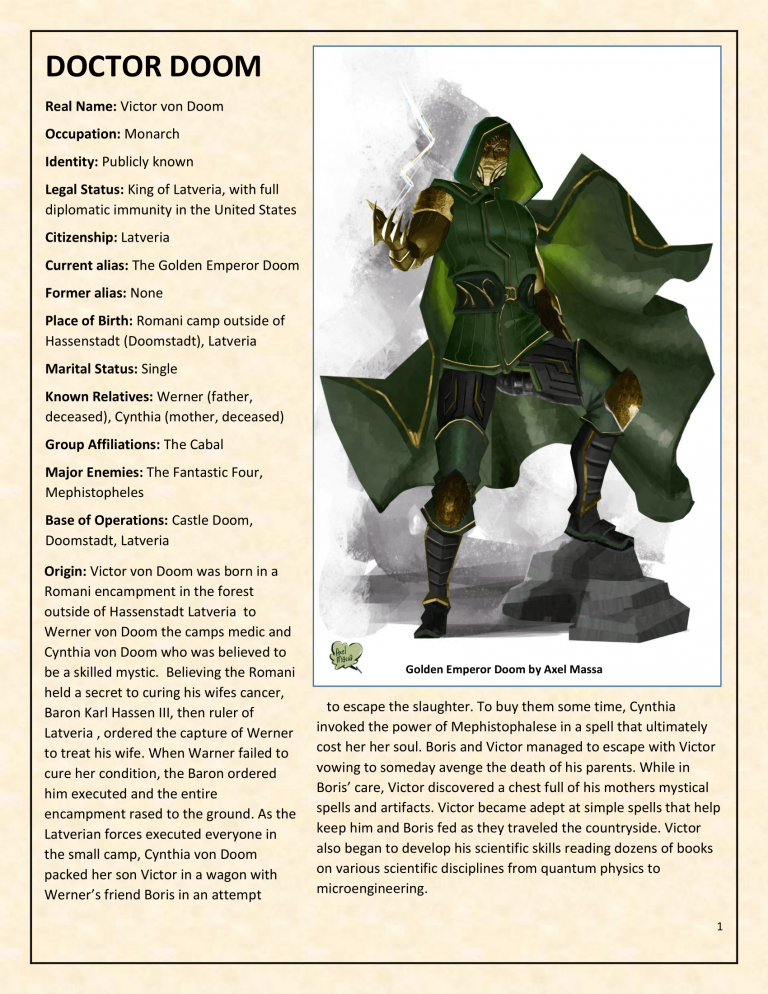OHOTMUO Doctor Doom v3-1