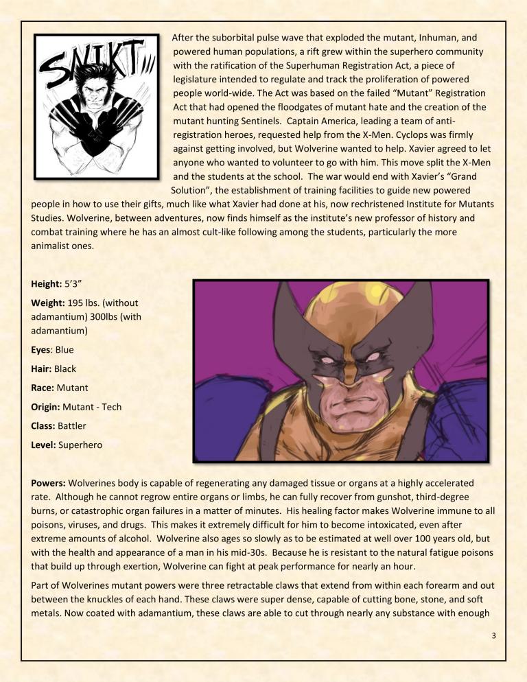 OHOTMUO Wolverine v3-3